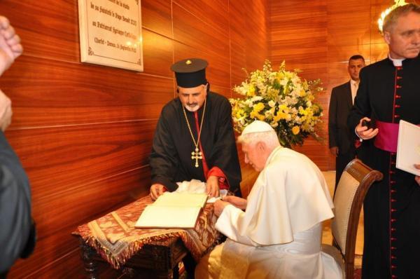 pape rencontre benoit